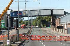 The bridge over the Bristol Road at Longbridge