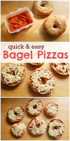 Eats Amazing UK Recipe - Turn bagels into pizza with your choice of toppings - so quick and easy to make