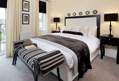 Bedroom: Bath Riverside by Suna Interior Design. An elegant family home, located in Bath, alongside the River Avon.