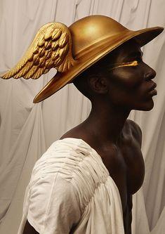 Black Women Art, Black Art, Liu Jo, Hermes, Greek Gods And Goddesses, Greek Mythology, Black Goddess, Goddess Art, Dark Skin Beauty