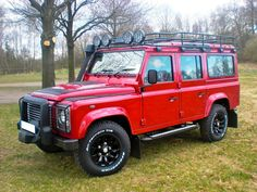 THE BIG RED ONE TEN Defender Camper, Land Rover Defender 110, Landrover Defender, Best 4x4, Expedition Truck, Jeep Suv, Four Wheel Drive, Sexy Cars, Range Rover