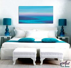 This navy blue, teal blue and violet abstract seascape art designed to enhance your bedroom, living room or office decor. Canvas prints are also available in a variety of sizes - see links below under more options. ►► DETAILS ►► PLEASE READ ►► ☼ Medium: High quality Giclée print on matte fine art paper reproduced from original painting by Denise Cunniff. ☼ Your choice of sizes: 8x16 or 12x24 All ArtFromDenise prints are made to order and considered a custom product, so if youre not sure…