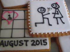 Proposal & Wedding Date cookies