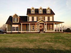Craftsman home. Green Hardie Home. Swansboro house plan. Don Gardner