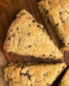 Chocolate Chip-Hazelnut Scones are wonderfully soft and moist with plenty of flavor. A fantastic treat for breakfast, brunch, or a coffee break! - Bake or Break