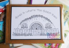 Hobbit  Card - New Home Greeting Card  - Hobbit Color in card