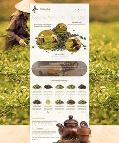 Oolong tea microsite by JakubSpitzer on DeviantArt App Ui Design, Layout Design, Web Cafe, Tea Website, Oolong Tea, Website Layout, Best Tea, Web Design Inspiration, Coffee Shop