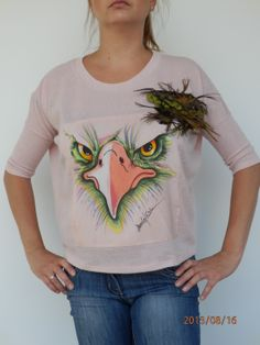painted silk from my SILKY BIRD collection ( all of feathers are fixed by velcro to blouses)