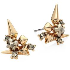 Alexis Bittar Spiked Crystal Cluster Stud Earrings (82.570 CLP) ❤ liked on Polyvore featuring jewelry, earrings, accessories, brinco, jewels, alexis bittar earrings, post earrings, spiked earrings, alexis bittar and crystal cluster earrings