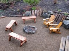 Make benches for campfire