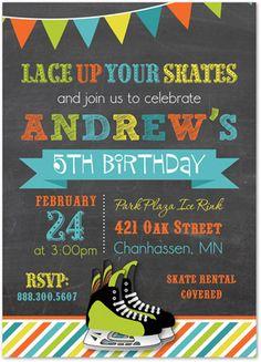 Ice Skate Party Invite Graphic Design Pinterest Skate party