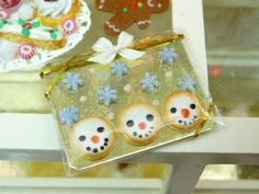 Regalo Paquete de muñeco de nieve y las galletas