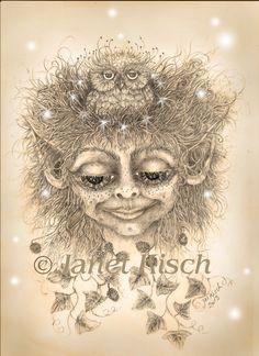 """the """"Owl girl"""" ~ Janet Kisch"""