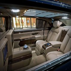 Maybach interior - the closest I'll ever be to one