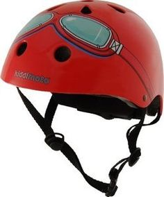 Kiddimoto Kids Helmet - Red Goggle