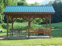 rustic Backyard pavilion