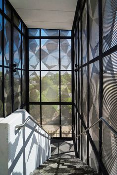 Pic Perf - Perforated Metal External Facade at John Curtain College. Architect: JCY Architects