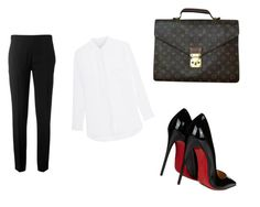 """Untitled #124"" by amrabasic ❤ liked on Polyvore featuring Chloé, Christian Louboutin and Louis Vuitton"