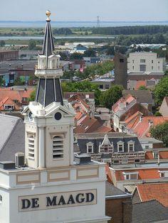 Toren van De Maagd, Bergen op Zoom, Noord-Brabant.