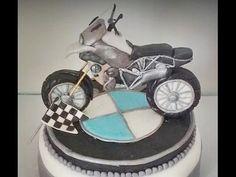 how to make bmw motorcycle cake topper fondant pasta di zucchero torta d...