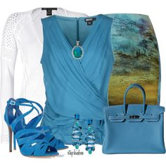 Sea of Blue, created by stephiebees on Polyvore