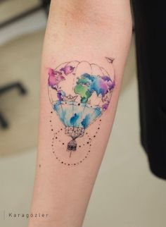 marvelous watercolor tattoos tattoo tattoo tattoo tattoo tattoo tattoo tattoo ideas designs ideas ideas in memory of ideas unique.diy tattoo permanent old school sketches tattoos tattoo Finger Tattoos, Body Art Tattoos, New Tattoos, Cool Tattoos, Globe Tattoos, Circle Tattoos, Gorgeous Tattoos, Diy Tattoo, Tattoo Fonts