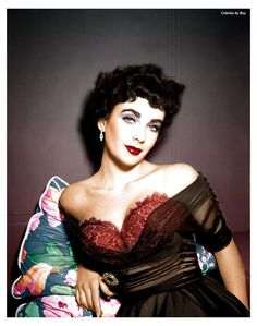 Elizabeth Taylor The Girl Who Had Everything 1953 Hollywood Movie Star Actress Hand Color Tinted Photograph Glamour Hollywoodien, Old Hollywood Glamour, Golden Age Of Hollywood, Vintage Glamour, Vintage Hollywood, Hollywood Fashion, Hollywood Glamour Photography, Old Hollywood Style, Hollywood Icons