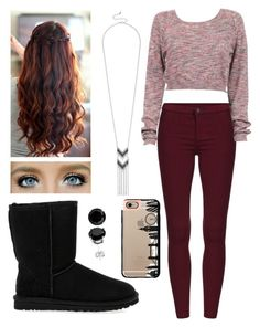 """Winter"" by anna-maee ❤ liked on Polyvore featuring UGG Australia, maurices and Casetify"