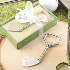 Score a hole in one when you offer golf enthusiasts a fabulous golf themed bottle opener favor at your corporate event.