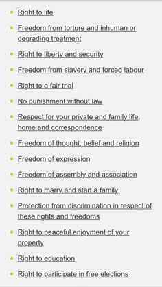 This is the UK Human Rights Act; this is the stuff that matters. These are the very basic things one can expect. Our new government want to abolish it. As in they have actually said they want to repeal it. If this happens we will have no rights, and no one can help us because it is the government which is doing it. Why would they want to do it? Well it gives them the right to discriminate based on gender, sexuality, race, class or hair colour if they want to. This would give them a legal…
