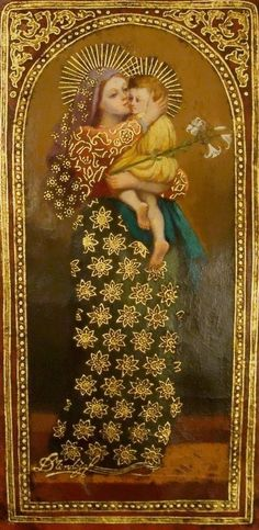 Religious Images, Religious Icons, Religious Art, Madonna Art, Madonna And Child, Blessed Mother Mary, Blessed Virgin Mary, Mama Mary, Queen Of Heaven