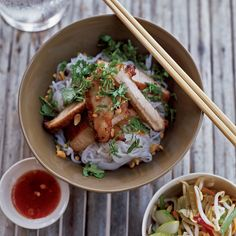 Lemongrass Barbecued Pork: Mai My Lin, one of the chefs Marcia Kiesel met at the Nha Trang night market, prepares an aromatic and pungent marinade for grilled pork with two quin...