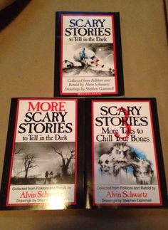 Alvin Schwartz Scary Stories to Tell in the Dark More and Scary Stories 3 Books $32.99 #scarystories #alvinschwartzs #youngreaders