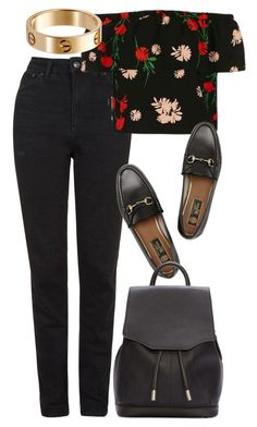 """Untitled #5201"" by rachellouisewilliamson on Polyvore featuring Topshop, Gucci…"