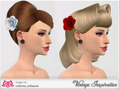 Rose hair accessory by Colores Urbanos at TSR via Sims 4 Updates