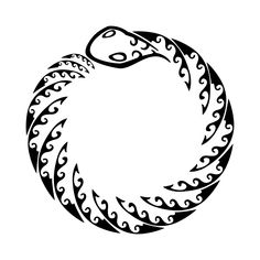 Tribal ouroboros.