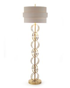 "Limited Production Design: 70"" Elegant Circular Rings Floor Lamp"
