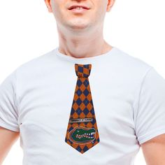 Florida Gators Big Guy Sticky Argyle Tie - Royal Blue/Orange