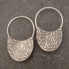 Oval Sterling Padlock Earrings by DownToTheWireDesigns on Etsy, $54.00