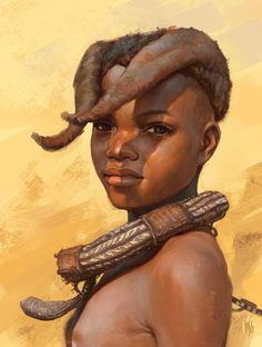fyblackwomenart: Himba tribe kid study by - Starchild to Creation. African Tribal Girls, African Women, African Culture, African History, Africa People, Art Africain, Tribal People, African Tribes, African American Art