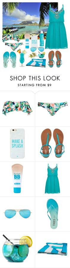 """""""Untitled #627"""" by seems99 ❤ liked on Polyvore featuring Bora Bora, Forever 21, Kate Spade, Aéropostale, Maybelline, maurices, Ray-Ban, Tkees and J.Crew"""