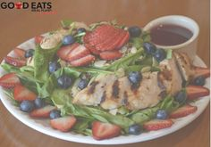 Get a delicious taste of summer with our new Berry Salad with Chicken: www.goodeatsprogram.com