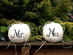 Harvest Fall Wedding Reception Decor Mr   and Mrs by aRestfulHome