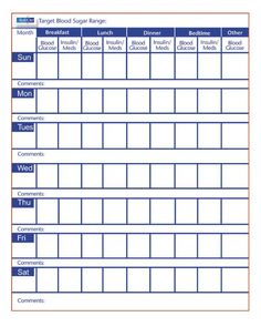 Blood pressure monitoring sheet pdf