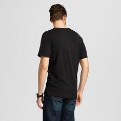 Men's Short Sleeve Henley Shirt Black Xxl - Merona