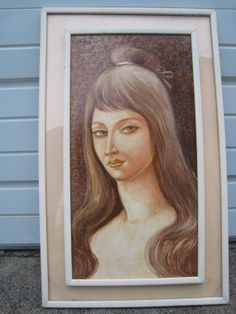 Art SALE  Mid Century Modern signed  Painting of by Esoterique50, $100.00