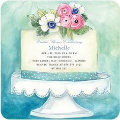 Aquarelle Bridal Shower Invitation