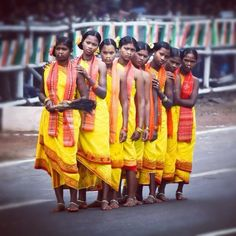 Tribal dancers waiting for their turn on the Republic Day #bhubaneswar #odisha #orissa