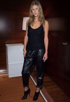 black leather pants | French Voguettes