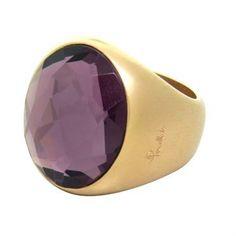 New Pomellato Narciso 18k Gold Amethyst Ring